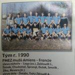 """TJ Hostivař 1990, účastník PMEZ """"B"""" divize, Amiens (Francie)"""