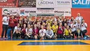 Tři nejlepší týmy halové extraligy žen 2016/2017